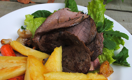 Bradley Smoked Venison with Vegetable Chips